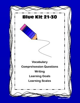 Blue Kit 21-30 Comp/Writing/Vocab/Learning goals and scales