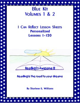 """Blue Kit """"I Can Reflect"""" Worksheets Lessons 1-120"""