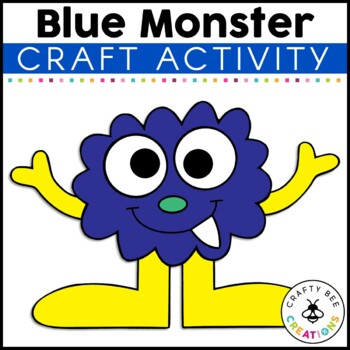 Blue Monster Cut and Paste