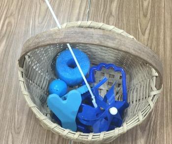 Blue Mystery Basket