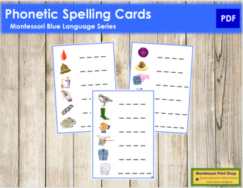 Blue: Phonetic Spelling Cards