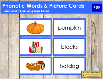 Blue: Phonetic Words and Picture Cards