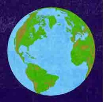 Blue Planet Mural Template
