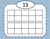 Blue Polka Dot Double Ten Frames 11-20