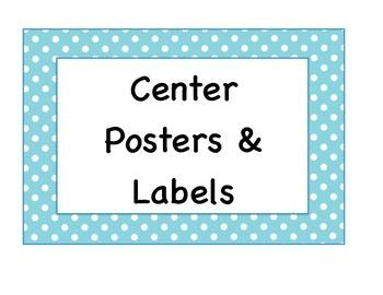 Blue Polka Dots Poster Pack