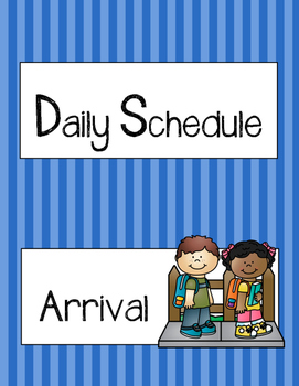 Blue Pop-Out Schedule Cards