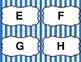 Blue Stripe Word Wall Set