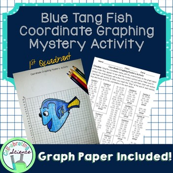 Blue Tang Fish Coordinate Graphing Mystery Activity (1st q