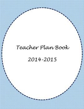 Blue Teacher Binder Cover