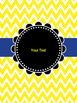 Blue & Yellow Binder Covers (editable)