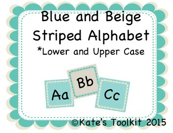 Word Wall Alphabet Letters Upper and Lowercase 1
