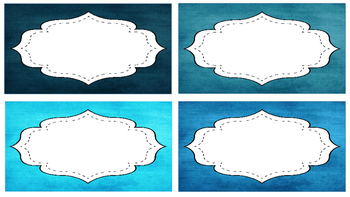 Blue and Coral Beginnings: an editable decor pack