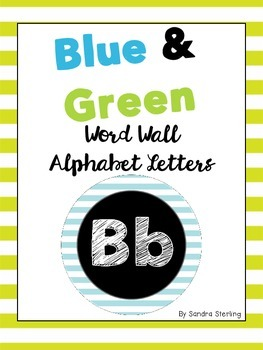 Blue and Green Alphabet Cards