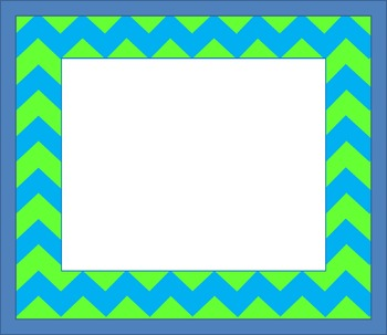 Blue and Green Chevron Border