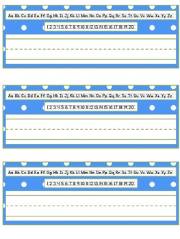 Blue and Green Polka Dot Name Tags