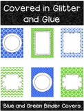 Blue and Green Printable Binder Covers
