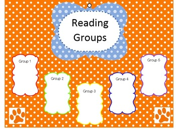 Blue and Orange Reading Group Template