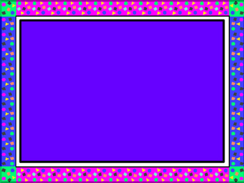 PowerPoint Template With Blue and Purple Border
