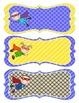 Superhero Name Tags - Blue and Yellow