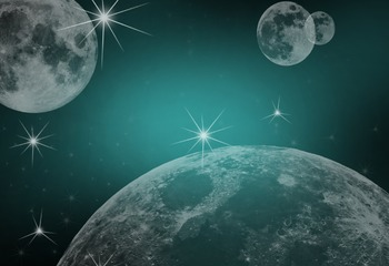 Blue space themed image