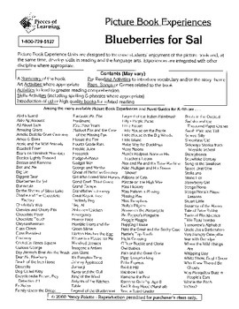 Blueberries for Sal Literature Activity Guide