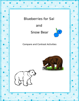 Blueberries for Sal and Snow Bear Activities