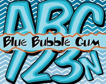 Blueberry Bubble Gum Alphabet -  150 DPI - PDF/ PNGs - 3.5