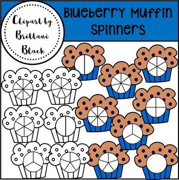 Blueberry Muffin Spinners~ Clipart
