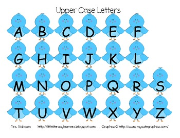 Bluebird Alphabet Boards