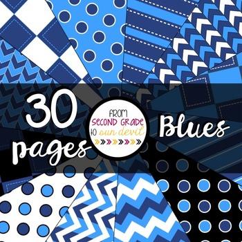 Blues Digital Paper