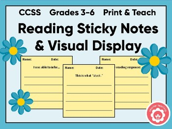 Reading Sticky Note Board Display