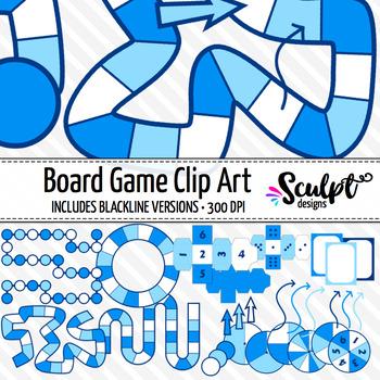 Board Game Clip Art ~ Winter Colors