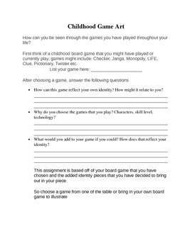 Board Game Handout