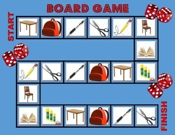 Board Game School Objects