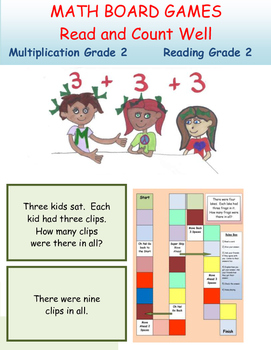 Multiplication Board Games  Grade 2