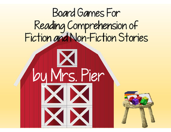 Board Games For Reading Comprehension of Fiction and Non-F