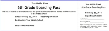 Boarding Pass to Middle School