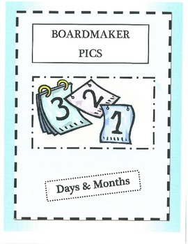 Boardmaker Pictures-days and months