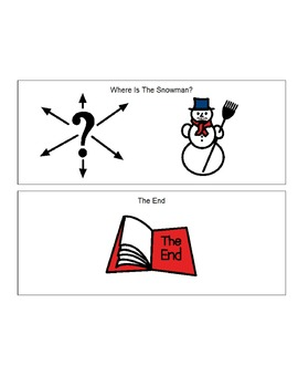Boardmaker Printable Book: Where is the Snowman?