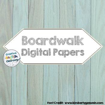 Boardwalk Digital Paper Backgrounds
