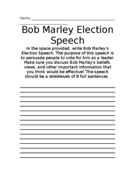 Bob Marley Election Speech Project