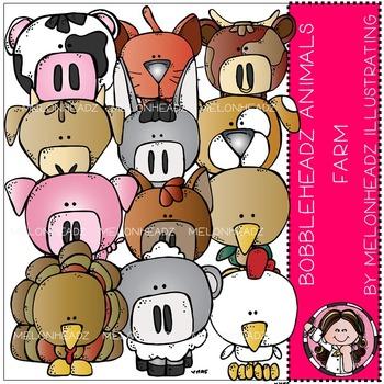 Melonheadz: Farm Animals clip art - Bobbleheadz - COMBO PACK