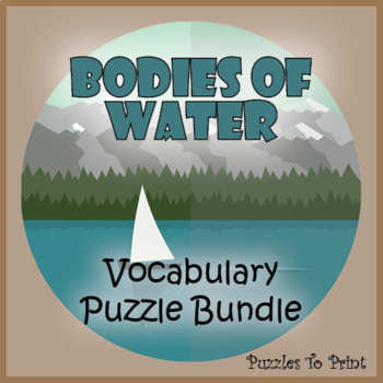 Bodies of Water Vocabulary Puzzle Bundle