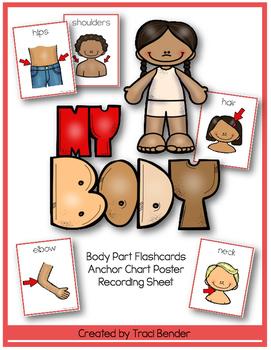 Body Part Flashcards/Anchor Chart/Recording Sheet