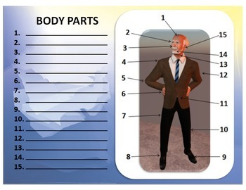 Body Parts Labeling Exercise