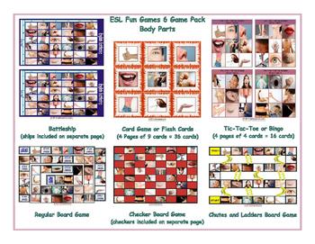 Body Parts 6 Board Game Bundle