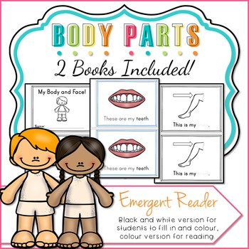 Body Parts Emergent Reader - Two Books
