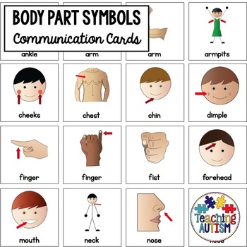 Body Parts Symbol Support Cards - Autism
