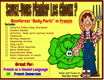 Body Parts-in French! Suitable for both FSL or French Immersion!