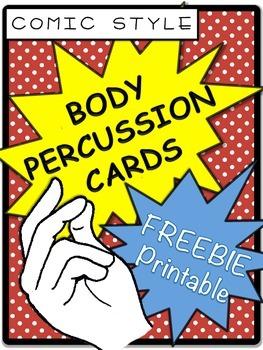 Body Percussion Card Freebie Printable
